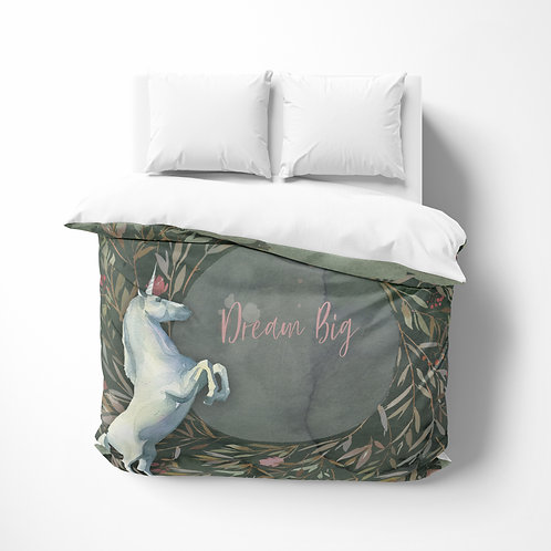 Personalized comforter - Enchanted forest unicorn