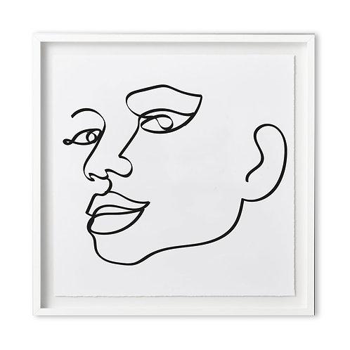 Fine art print - line art smile