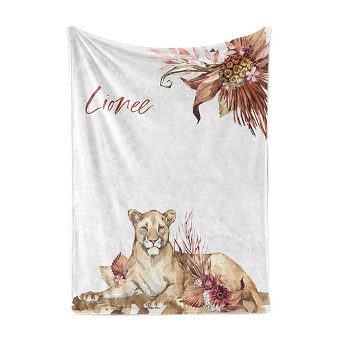 Personalized light blanket - Lioness