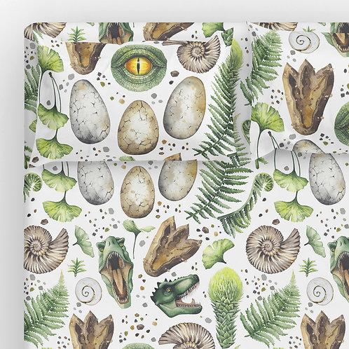 Italian cotton Sheet Set - Dino Jurassic Park