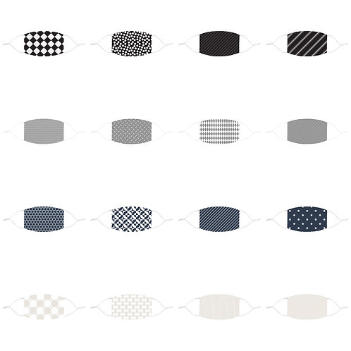 Fitted Face Mask - Patterns