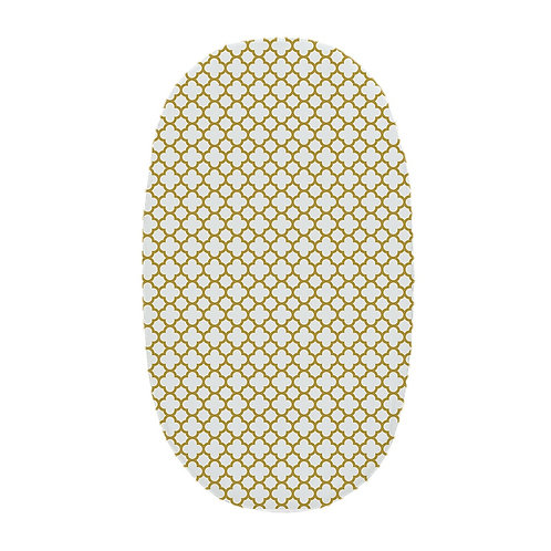 Oval crib fitted sheet - gold