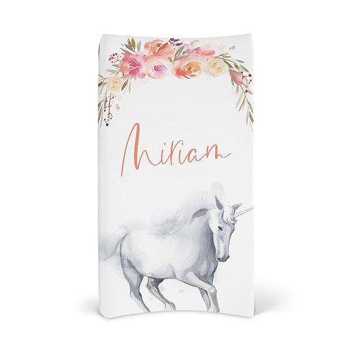 Personalized Changing Pad - Enchanted unicorn