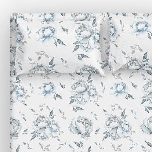 Italian cotton Sheet Set - Mermaid Flowers