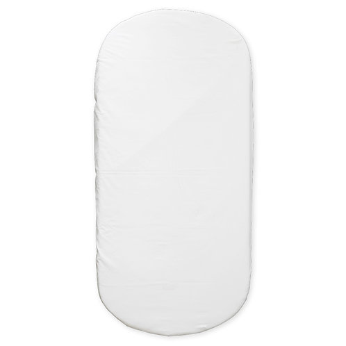 oval crib fitted sheet - pure white