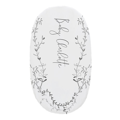 Personalized oval fitted sheet - fine art