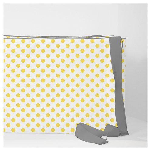 Crib convertible 3in1 bumper - gray & yellow