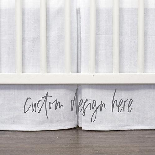 DYO - Custom Crib skirt - Tropicana Flamingo
