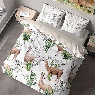 Queen Llama desert cacti llama.jpg