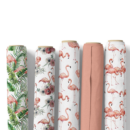 Fabric by the yard - Tropicana flamingo