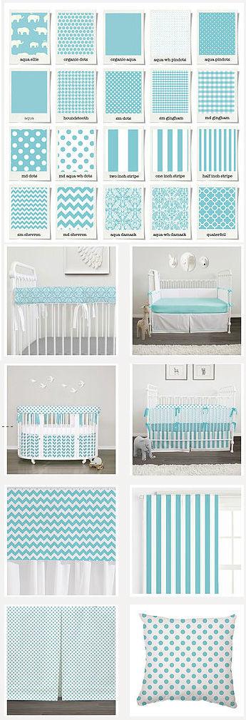 aqua baby bedding