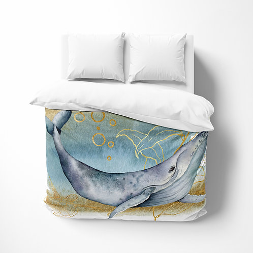 Personalized comforter - Ocean Whale