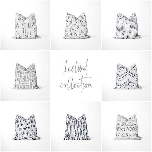 Decorative throw pillow - Iceland