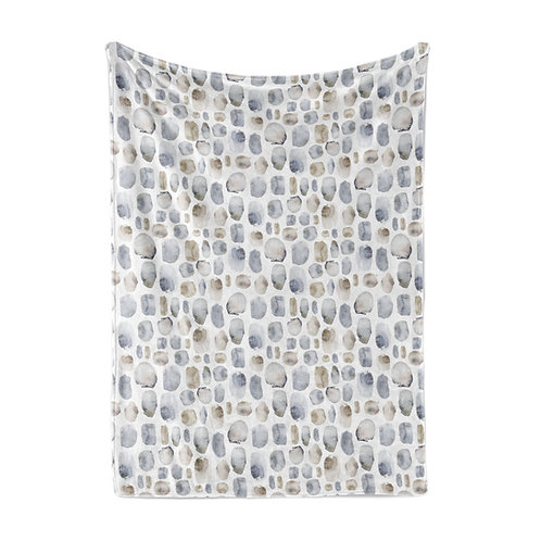 Personalized light blanket - Iceland pebbles
