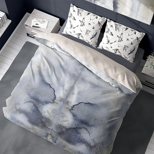 Duvet cover - Iceland watercolor #9