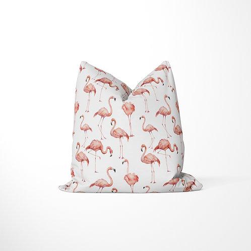 Throw Pillow - Tropicana Flamingo