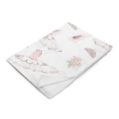 Royal Ballet Throw Blanket - Slippers & Tiaras