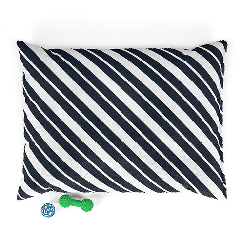 Personalized Pet bed - Navy stripes