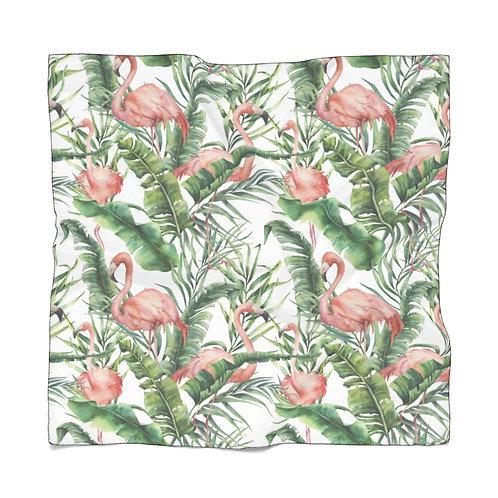 Light Sheer Scarf - Flamingo palm