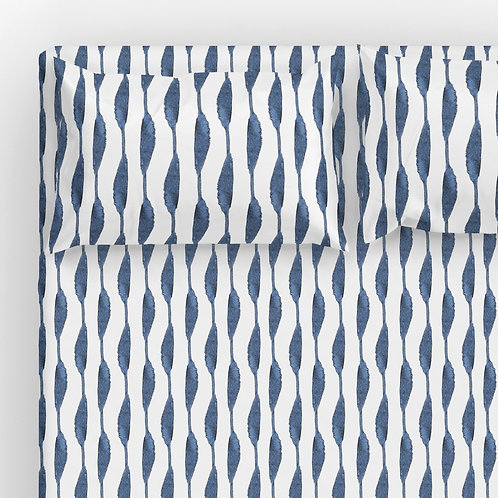 Italian cotton Sheet Set - Shibori one