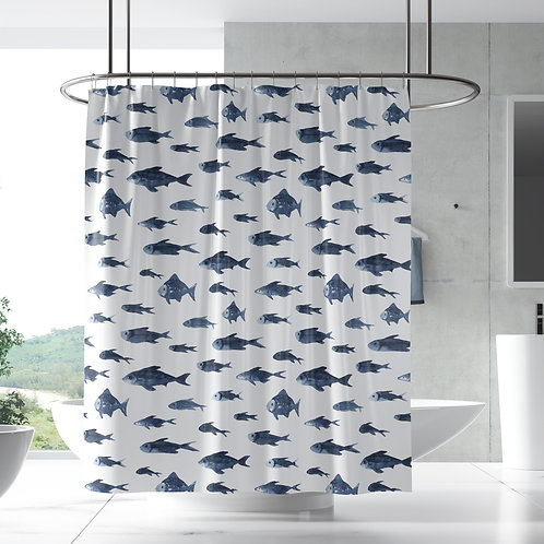 Shower Curtain - Neptune patterns