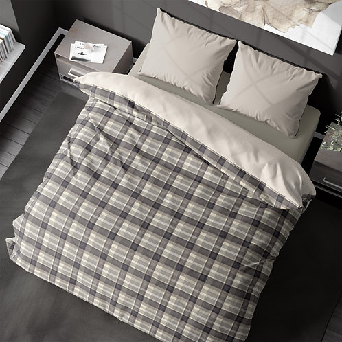 Duvet cover - Neutral Plaid VI