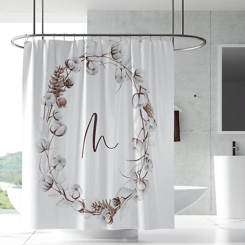 Shower Curtain - Cotton wreath