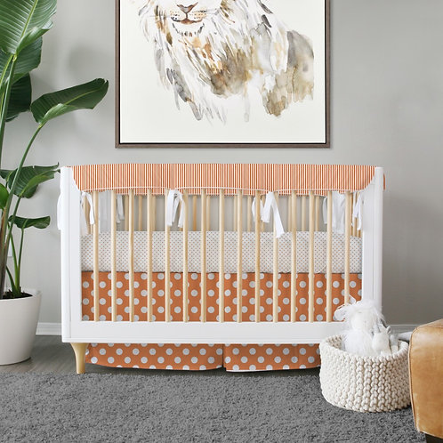 Crib 3pc set - orange