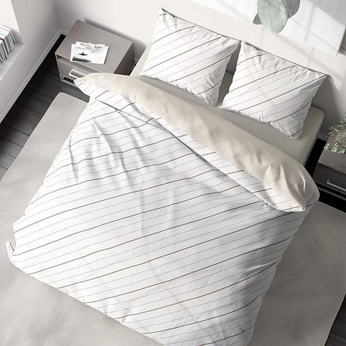 Duvet cover - Diagonal pinstripes pattern