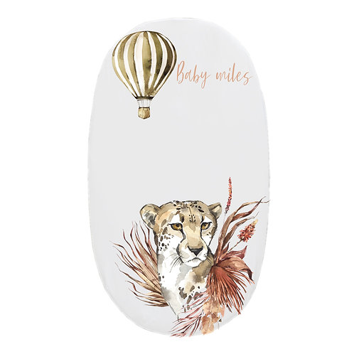 Personalized oval fitted sheet - Safari Cheetah
