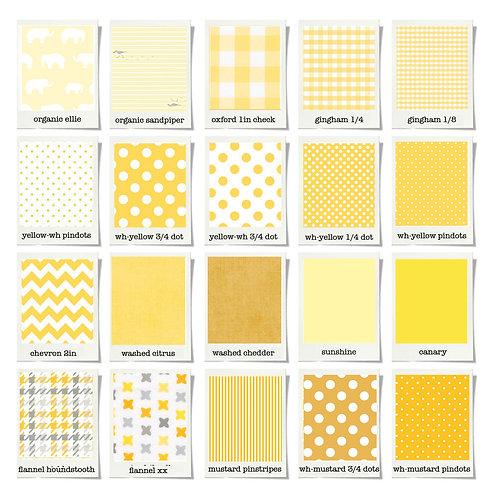 Change pad cover - gray & yellow