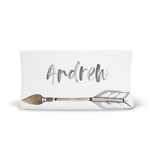 Personalized Changing Pad - Boho arrow