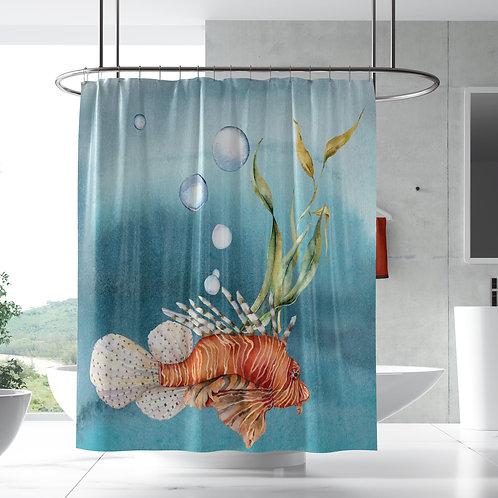 Shower Curtain - Ocean Lionfish