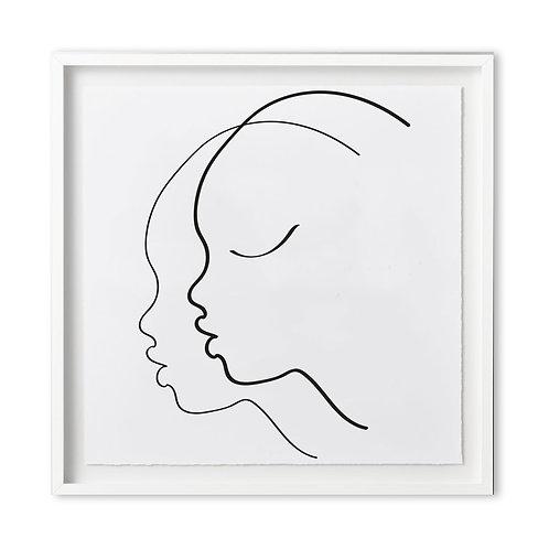 Fine art print - line art faces