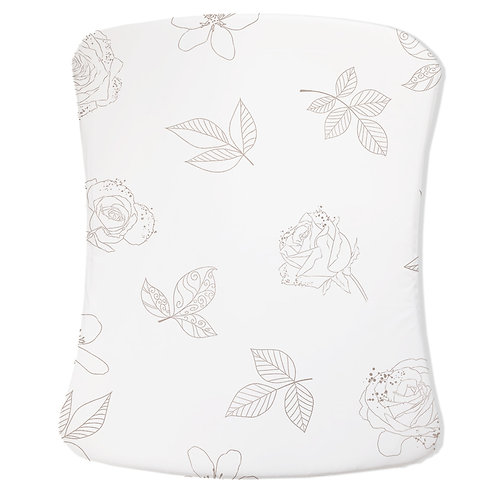 Personalized Stokke care changing pad cover - Royal Ballet Gold Roses
