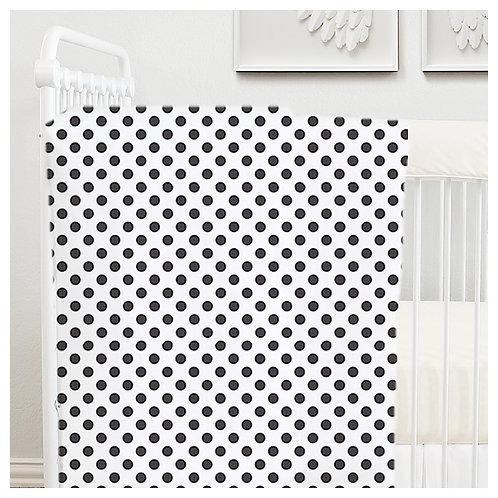 stroller blanket - black & white