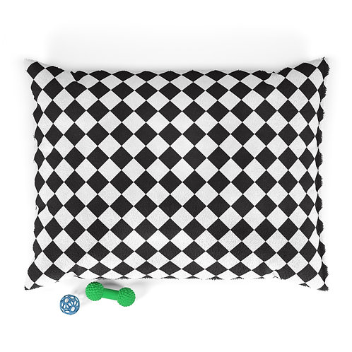 Personalized Pet bed - Black & White checkered