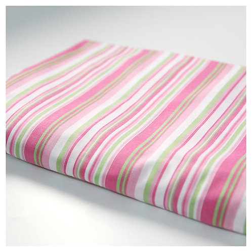 Crib fitted sheet - pinstripes