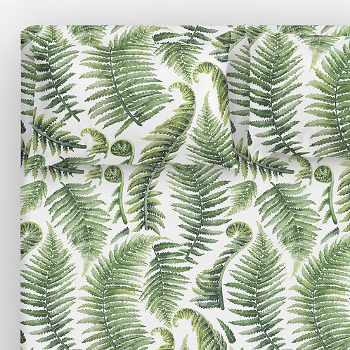 Italian cotton Sheet Set - Giant Fern