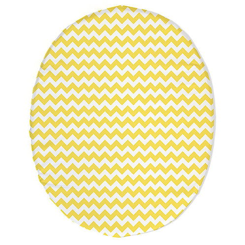 Stokke mini fitted sheet - gray & yellow