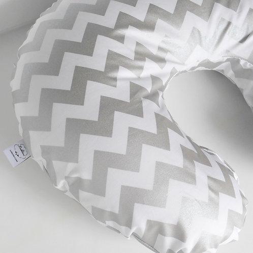 Nursing Pillow Cover - Silver
