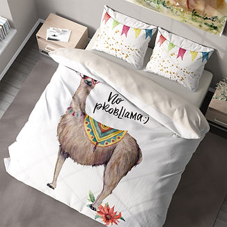 Double Bed Bedding Llama-no probllama.jp