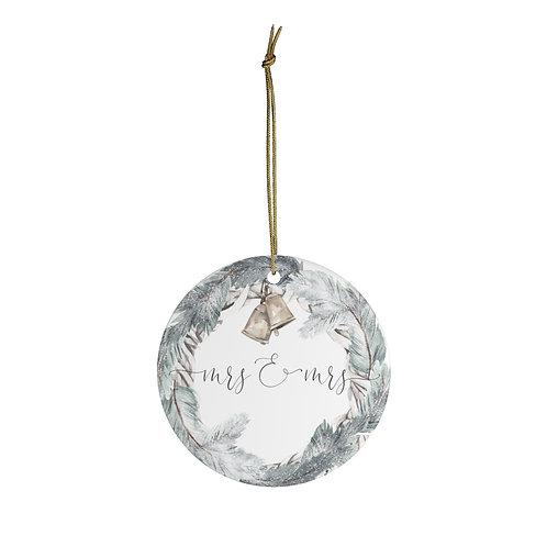 Ceramic Ornament - Couple's Christmas