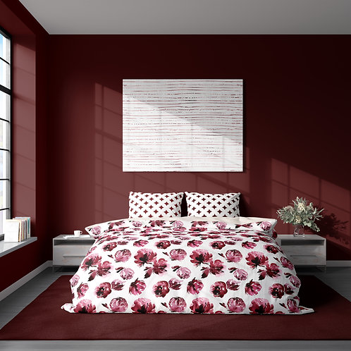 Personalized duvet cover - Red Wine Roses II