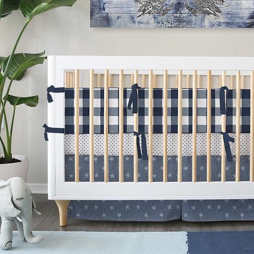 Crib 3pc set - blue