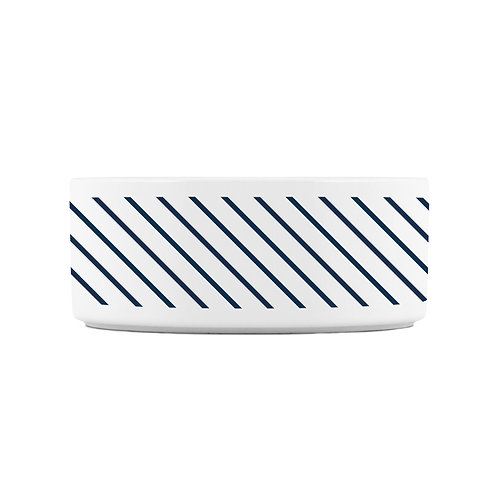 Personalized Pet bowl - Navy stripes