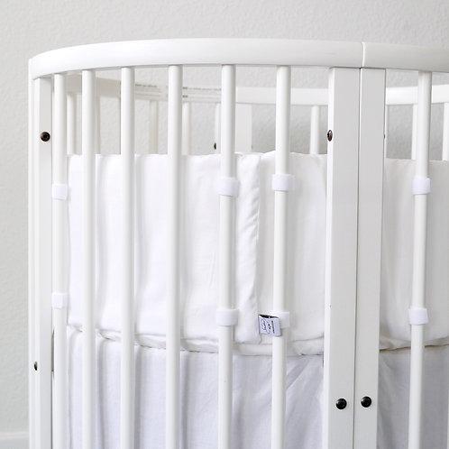 Oval crib bumper - Pure white