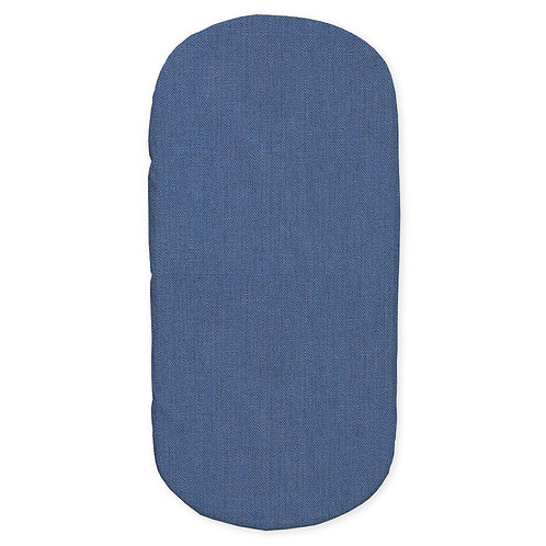 oval crib fitted sheet - blue
