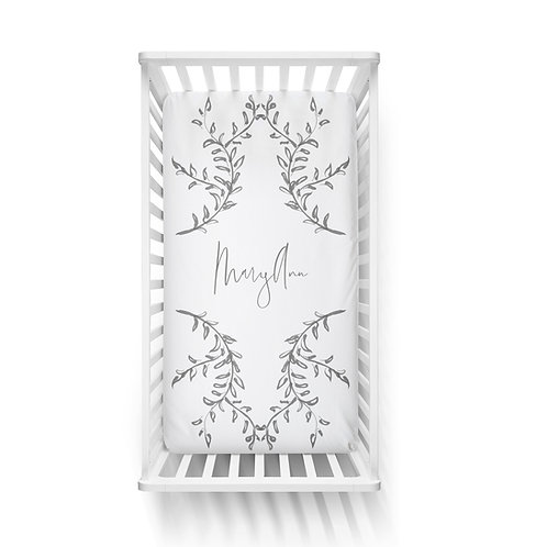 Personalized crib fitted sheet - fine art II