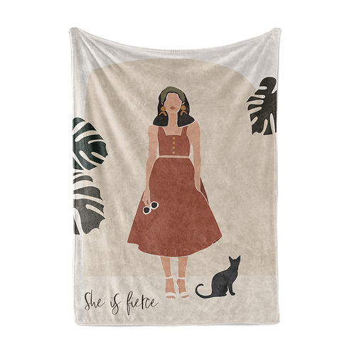 Personalized light blanket - Modern abstract Her I